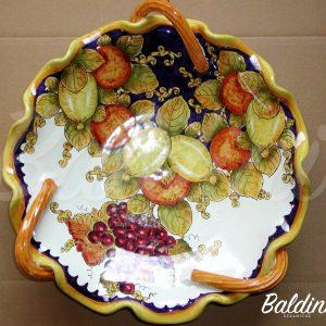 fruttiera 3 manici cm. 35 decoro bacco Decoro 2