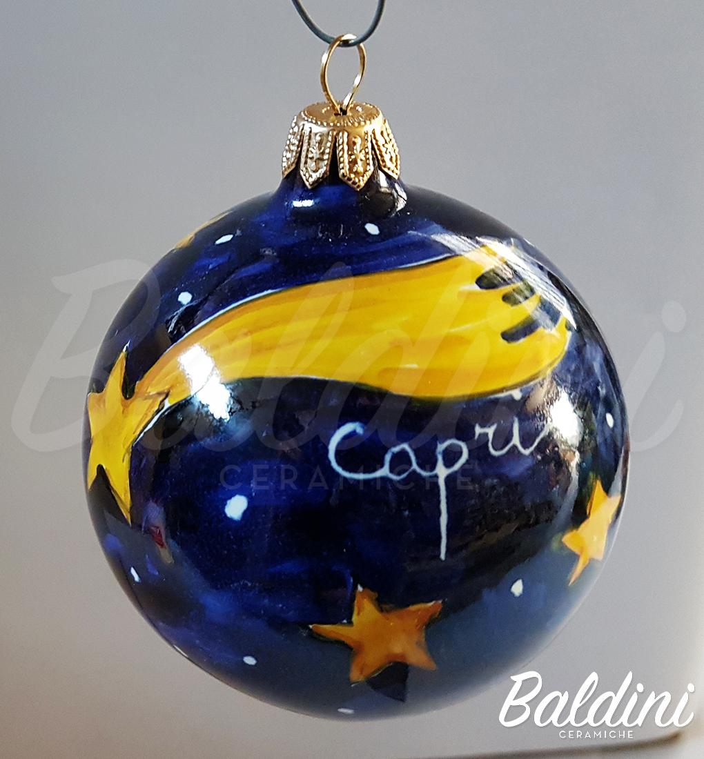 Stella Cadente Di Natale.Palline Di Natale Decoro Stella Cadente Baldini Ceramiche